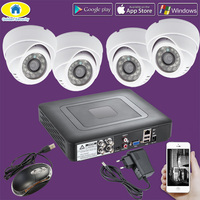 Golden Security 4CH 2000TVL CCTV DVR Surveillance Security System 720P AHD Camera Night Vision DVR CCTV