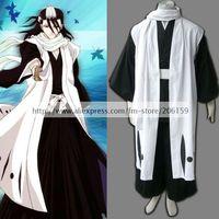 Bleach 6th Division Captain Kuchiki Byakuya Cosplay Costume For Men Halloween Clothing Cloak