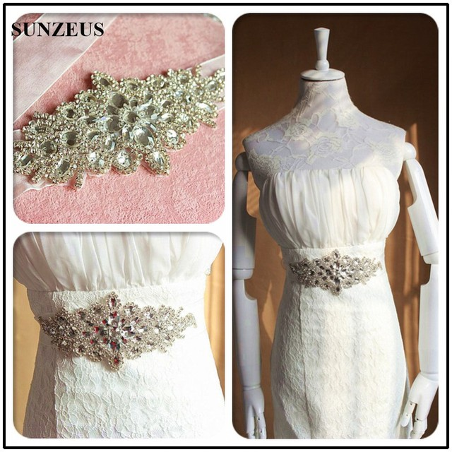 Rhinestone Sashes for Bridal Wedding Belts Cinturon Cristales Boda Vintage Sparkly Beaded Wedding Accessories S1237