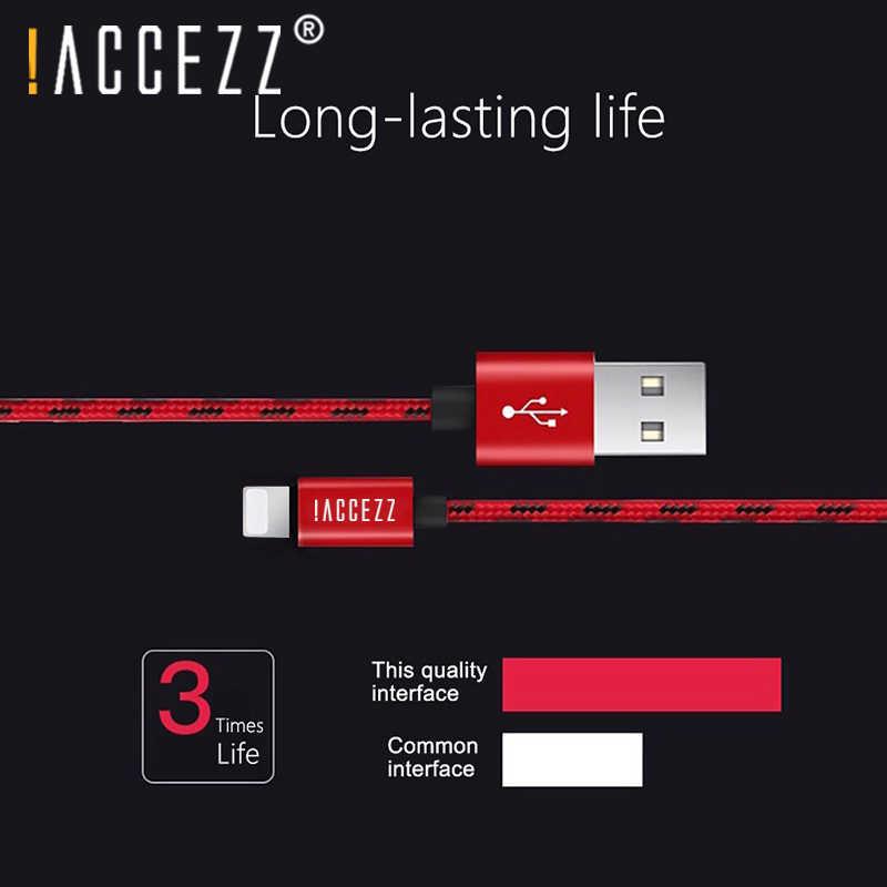 ! ACCEZZ USB تهمة بيانات كابلات منتجات APPLE فون X 7 6 8 6 S 5 5 S زائد XS ماكس XR ل باد البسيطة 8 دبوس سريع مزامنة الحبل كابلات