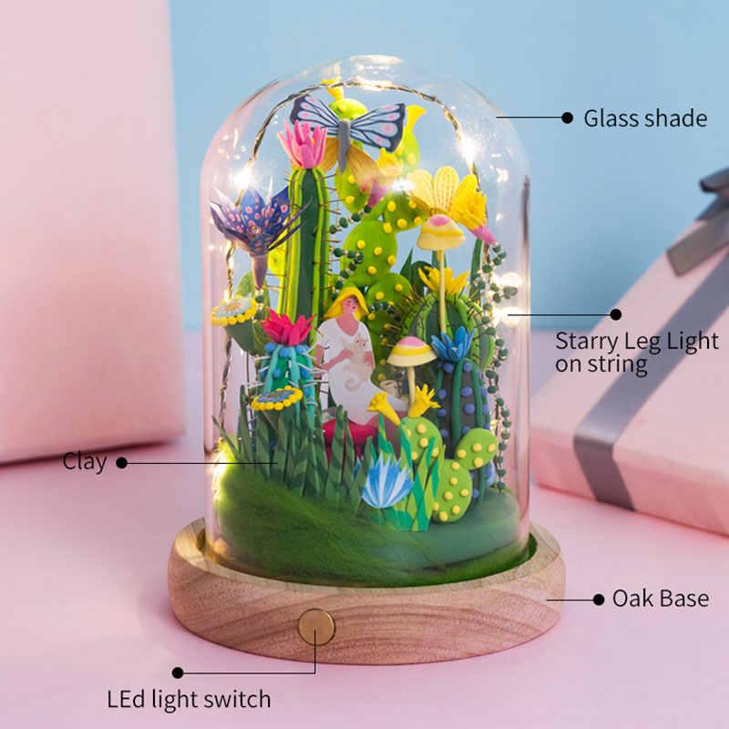 Robotime DIY Model kil oyuncaklar ile led ışık cam tozluk kabarık balçık hamuru oyuncaklar çocuk yetişkin için damla nakliye