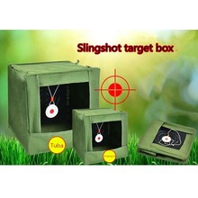 High Quality Foldable Portable Army Green Slingshot Target Box Recycle Ammo Hunting Catapult Case Holder For Practice Target dmar slingshot catapult ammo box toy bullets collectors shooting target papers for gift recycle practice for children adults