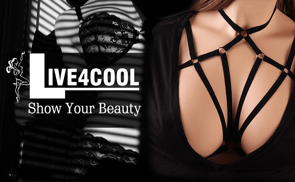 Sexy Bra Elastic Belt Up Strap Bra Clubwear Female Cupless Chest Bandage Adjustable S-XL Erotic Underwear Lingerie for Women (3)