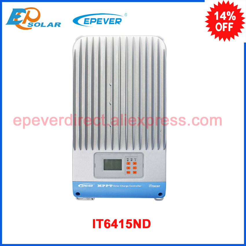 60A IT6415ND 12V 24V 36V 48V auto Work iTracer MPPT Solar Panel Battery Charge Controller Regulators auto battery charge controller regulators for 12v 24v 48v 96v system mppt controller