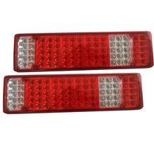 1Pair Car LED Rear Tail Lights Stop Brake Taillight Reverse Indicator Lamp For Trailer Caravan Ute Truck 24V