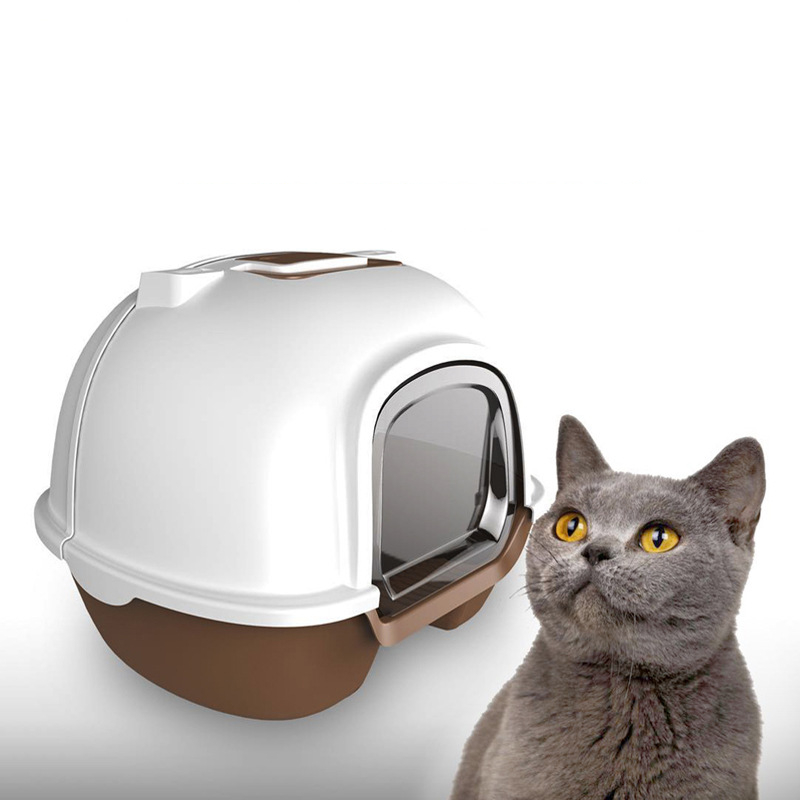 Cats Sandbox Litter Box Closed Toilet 5 Colors Bedding Training Detachable Bedpan Kitten For Small Medium Large Pets Accessories