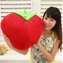 big size lovely strawberry toy plush cute red strawberry doll gift about 40cm 0405