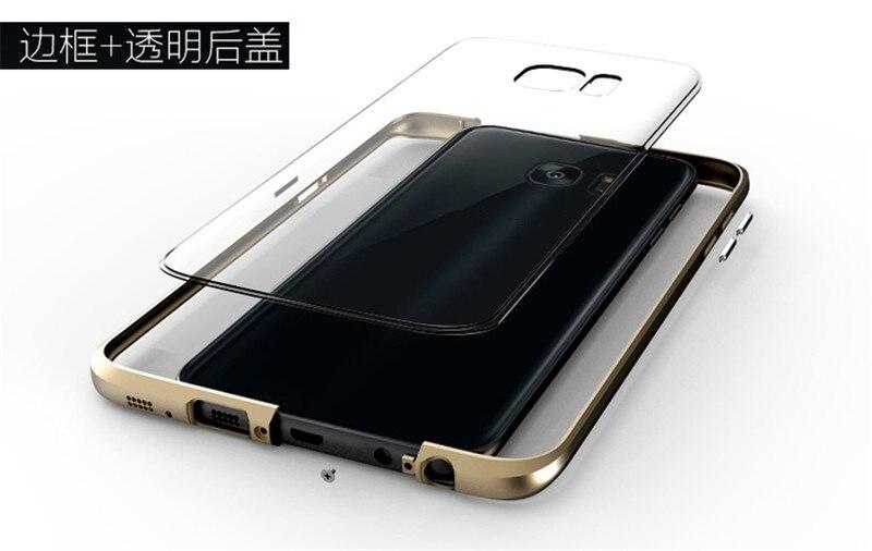 imágenes para Original BOBYT Caso Del Capítulo Del Metal De Aluminio Caso Para Samsung Galaxy S7 Borde Marco de Parachoques Del Metal + Pc Claro Teléfono Contraportada cubierta