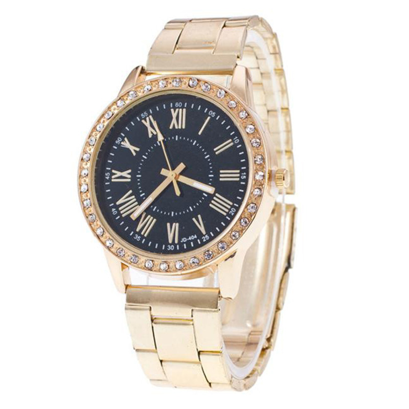 232fb5e67 Watch Willby Women Fashion Luxury Golden Stainless Steel Metal Band  Rhinestone Analog Quartz Wrist Watch 161219