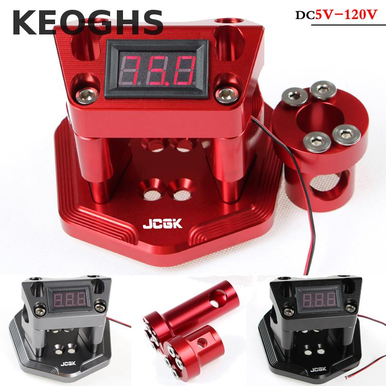 Keoghs Motorcycle Handlebar Seat With Voltmeter 5-120v Input All Cnc Aluminum Alloy For Yamaha Scooter Dirt Bike Modify keoghs motorcycle high quality personality swingarm swinging arm rear fork all cnc for yamaha scooter bws cygnus honda modify