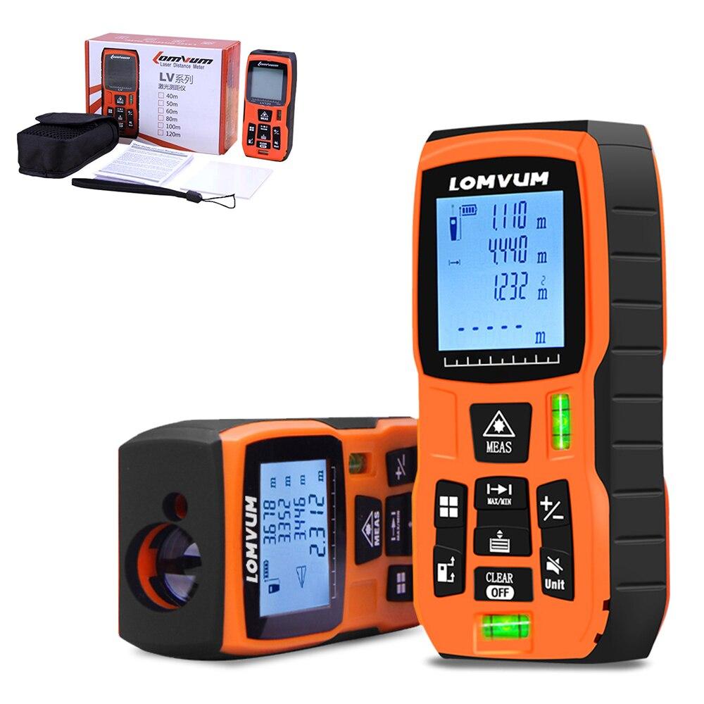 LOMVUM 80/120m fita métrica trena medidor régua Laser Rangefinders Medidor de Distância medidor range finder Digital lazer metreler