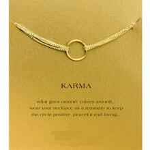 Sparkling Karma Four Strand Bracelet Gold Dipped Circle Gold Fahion Jewelry Bracelet Women Jewelry B0012