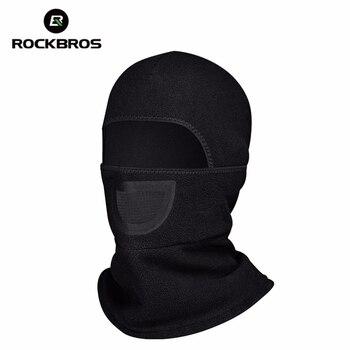 を ROCKBROS 自転車フリースキャップサイクリング帽子ネックウォーマー頭自転車フェイスマスク帽子襟スカーフ自転車アクセサリー黒