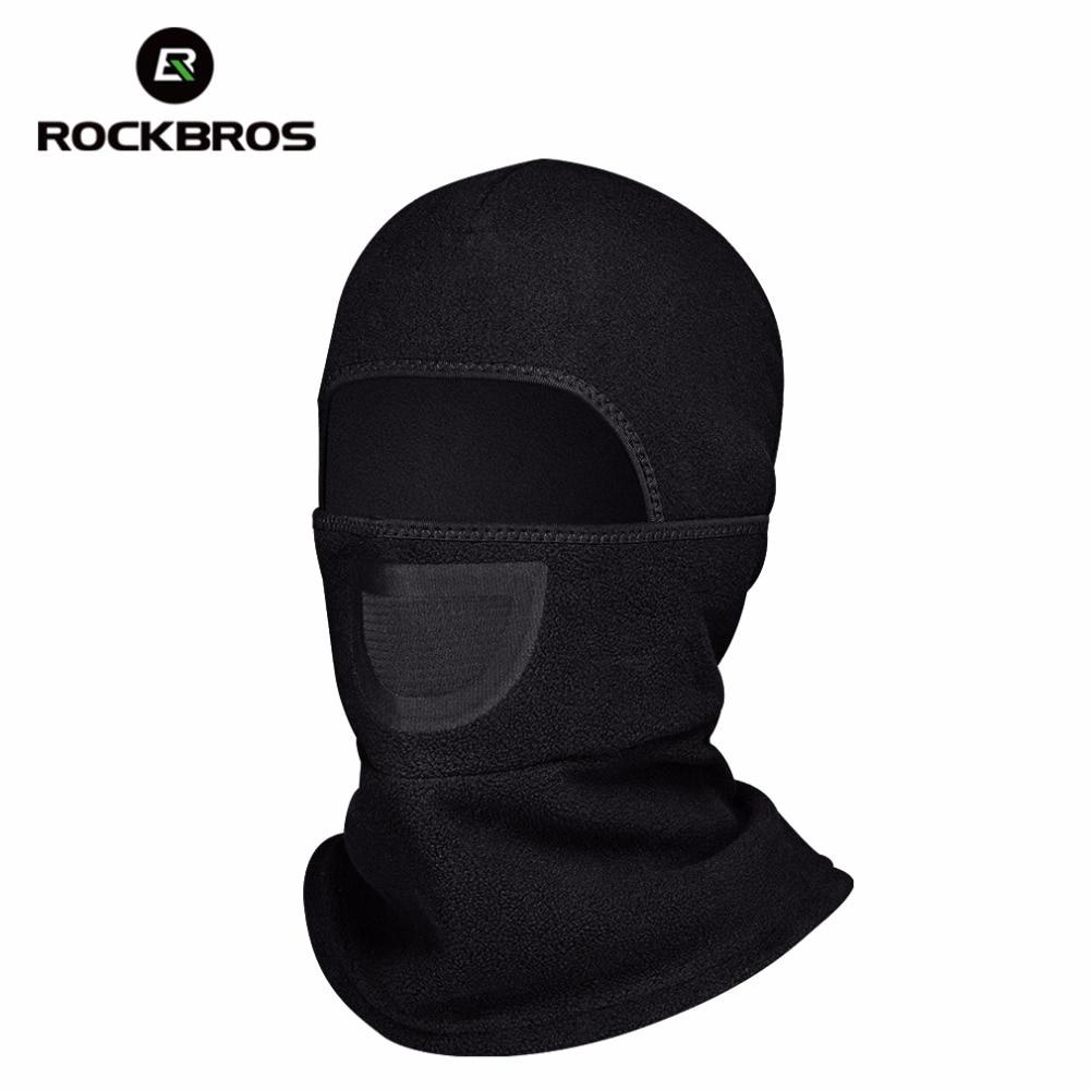 Prix pour Rockbros vélo polaire cache-cou pour tête vélo visage masques de chapeaux de vélo couvre-chef chapeau col écharpe accessoires vélo noir