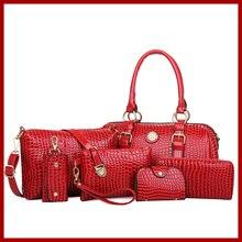 Nouveau 2015 femmes en cuir véritable sacs à main célèbres sacs à bandoulière femmes designers marques sac vintage sacs fourre – tout 6 conjuntos livraison gratuite