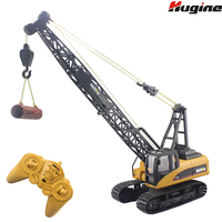 RC Truck Tower Crane 16CH 2.4G Remote Control Hoist Constructing Crawler Excavator Model Electronic Engineering Hobby Toys