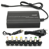 EU Plug Universal 100W DC AC Auto Notebook Laptop Charger Adapter Power New Laptop Adapter Charger Car Chager 8pcs Connector