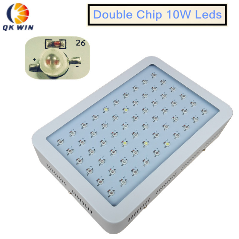 3pcs/lot Double chip Qkwin 600W LED Grow Light 60x10W double chip Full Spectrum for Hydroponic Planting shipping 3pcs lot double chip qkwin 600w led grow light 60x10w double chip full spectrum for hydroponic planting shipping
