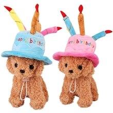 Шапка для собак на день рождения, маленькая собака на открытом воздухе, шляпы для домашних животных, аксессуары для домашних животных для собак, кошек