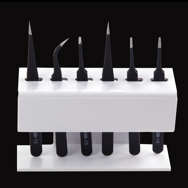 1Pcs Acrylic Eyelash Extension Tweezers Stand Durable And Convenient 6 Pcs Storage Holder Make Up Tool