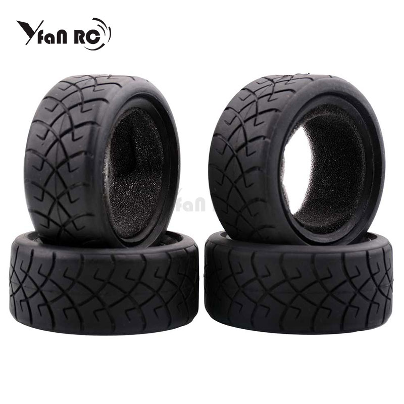 Yfan RC 1:10 Running Tire D65mm Rubber Tires 65*26mm On-road Wear-resistant <font><b>Wheels</b></font> Tire for 1/10 Sakura D3/D4 HSP RC <font><b>Cars</b></font> Parts image