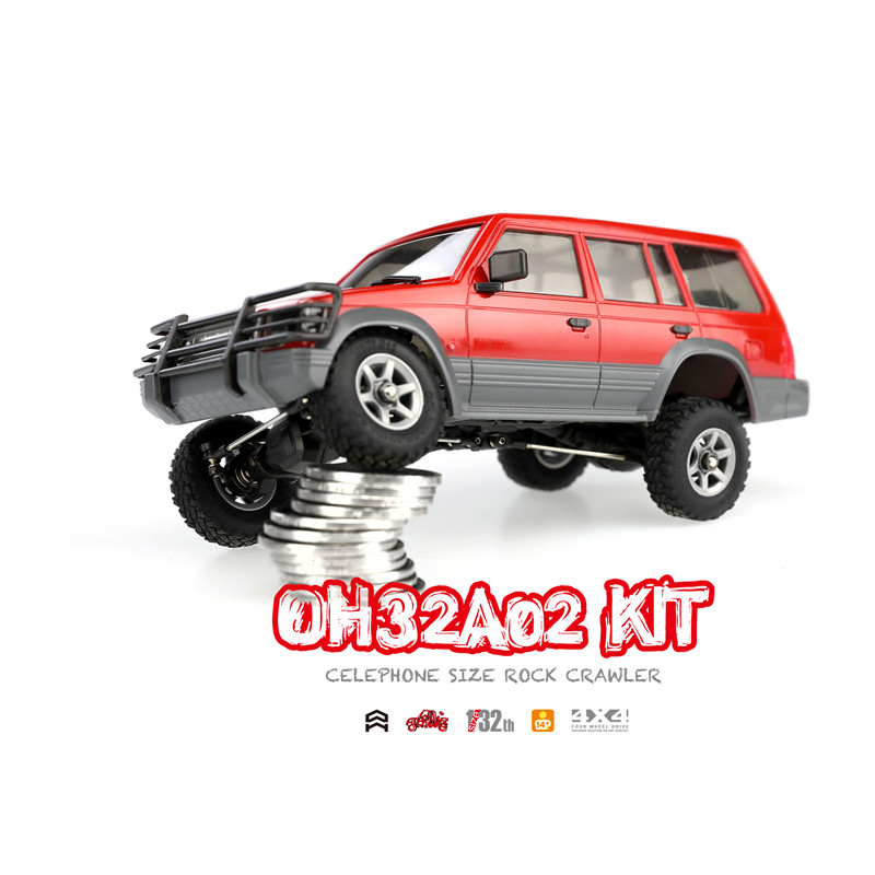 Orlandoo 1/32 4WD DIY RC Car Kit Orlandoo-Hunter OH32A02 RC Rock Crawler Without Electronic Parts CellPhone Size high quality feiyue fy 03 eagle rc remote control car kit for diy handmade upgrade parts without electronic parts