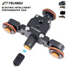 YELANGU L4X камера видео мини трек Долли моторизованный Электрический ползунок двигатель Долли грузовик автомобиль для Nikon Canon DSLR камера видеокамера