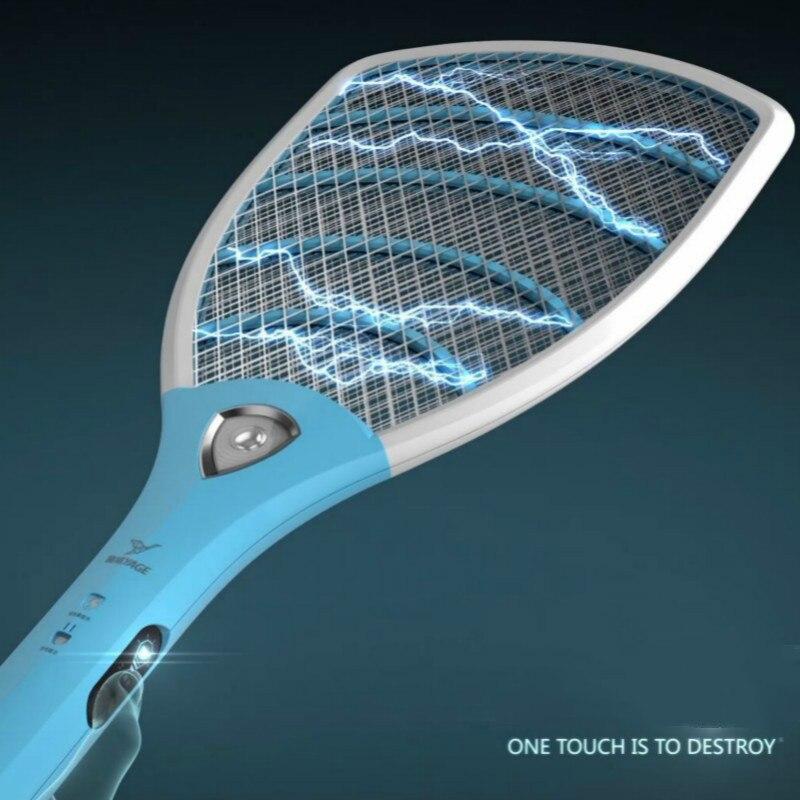 YAGE Antiparasitaire Moustique Électrique Tapette Moustique Tueurs Bug Zapper Rejeter Raquette Piège Électrique Choc avec des Lumières Tactile