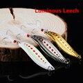 De Metal VIB 3 color 7g/10g/15g/20g luminosa sanguijuela fidget Spinners cuchara señuelos de Pesca de pesca