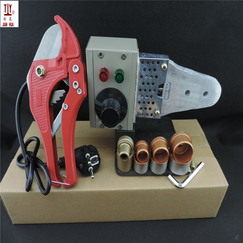 1 Set JIANHUA With 42mm Pipe Cutter 16-32mm Semi-automatic Ppr Welding Machine, Heating Element For Plastic Pipes