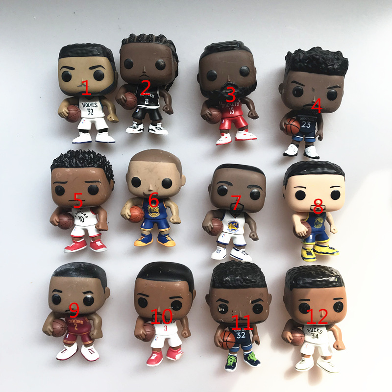 Original Funko pop Used Basketball Players Curry, Harden, klay, Durant, Paul, Irving, Giannis Vinyl Figure Collectible Model Toy image