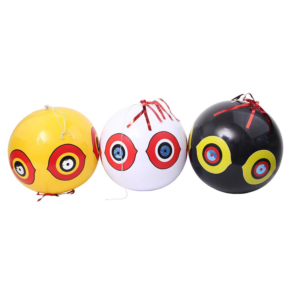 Anti-Bird Repellent Inflatable Scare Eye Balloons Hunting Pest Controller Fast Reliable Visual Deterrent Farm Orchard Protector