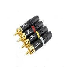 NEUTRIK YONGSHENG złoty PHONO RCA wtyki YSS373 czerwony/biały/czarny/żółty profesjonalne złącza darmowa wysyłka