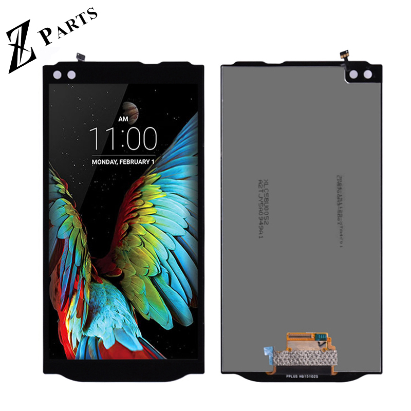 Original 5.7'' 2560 x 1440 LG V10 H960 H968 H900 VS990 LCD Display with Touch Screen Digitizer Assembly With frame free shipping lg lcd display lg v10 displaylg display - title=