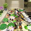 Free Shipping Custom 3D Lotus Flower Flooring Wallpaper Kitchen Home Courtyard Aisle Background Floor Mural