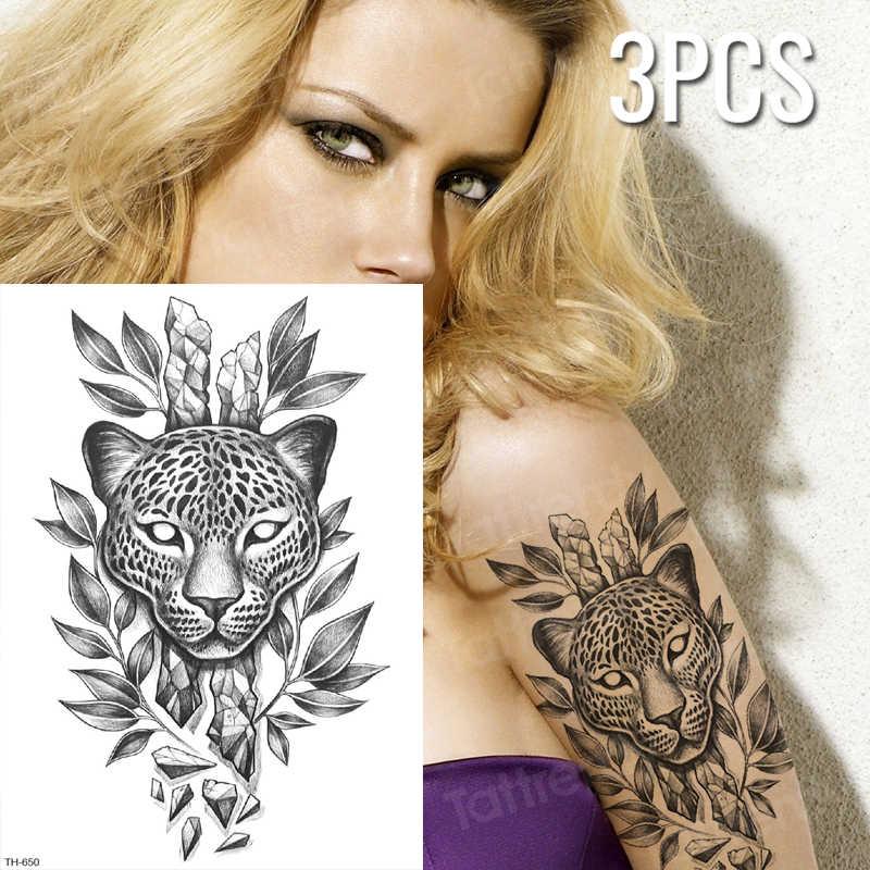 3 Pcs Lot Leopard Print Temporary Tattoo Black Panther Tattoo Black Sketches Tattoo Designs Body Tattoo Animals Women Tatoo Arm Aliexpress
