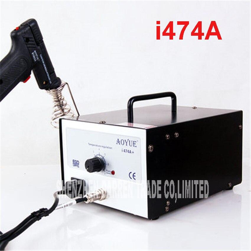110 V/220 V i474A + réchauffeur en céramique haute fréquence électrique d'aspiration étain station de soudure anti-statique automatique d'aspiration étain pistolet