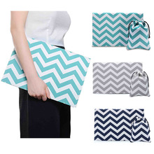 Phenas Brand Briefcases laptop sleeve bag for men women stripe canvas+felt briefcase laptop bag for Macbook air pro retina 13.3″