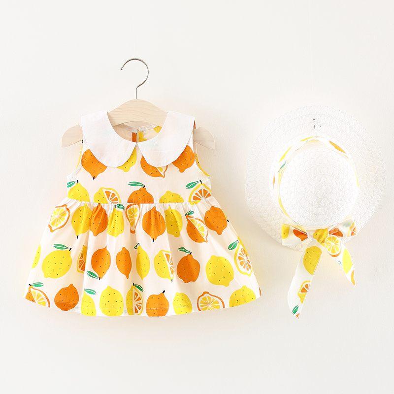 Two-Pieces Summer Baby Girl Nieuwe jurk Kinderkleding Effen kleur - Kinderkleding - Foto 2