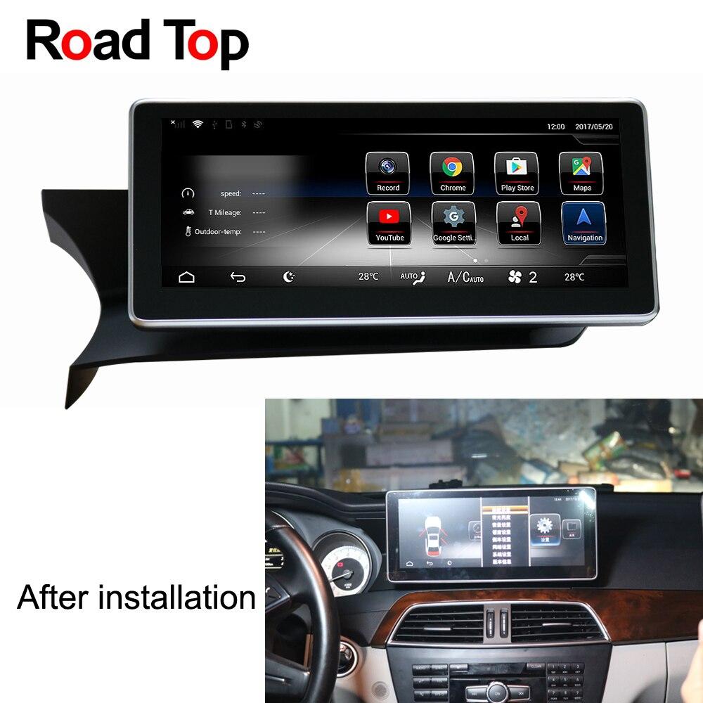 Android 7.1 Octa 8-Core 2 + 32g Autoradio GPS Navigation WiFi Bluetooth Tête Unité Écran pour mercedes Benz Classe C W204 2011-2013