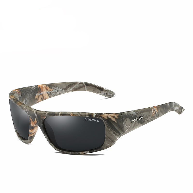 Sports Polarized Camo Sunglasses Fishing Eyewear Men or Women Outdoor Fishing Driving Riding UV400 Protection fashion rectangle frame gun metal leg outdoor driving sunglasses for men