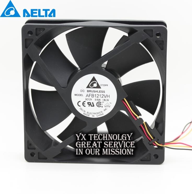 Delta New and Original AFB1212VH-BL3v 12025 12V 0.60A 3 lines dedicated fan for  120*120*25mm new and original qfr1224ehe 12038 12cm 24v 0 75a wind capacity inverter fan for delta 120 120 38mm