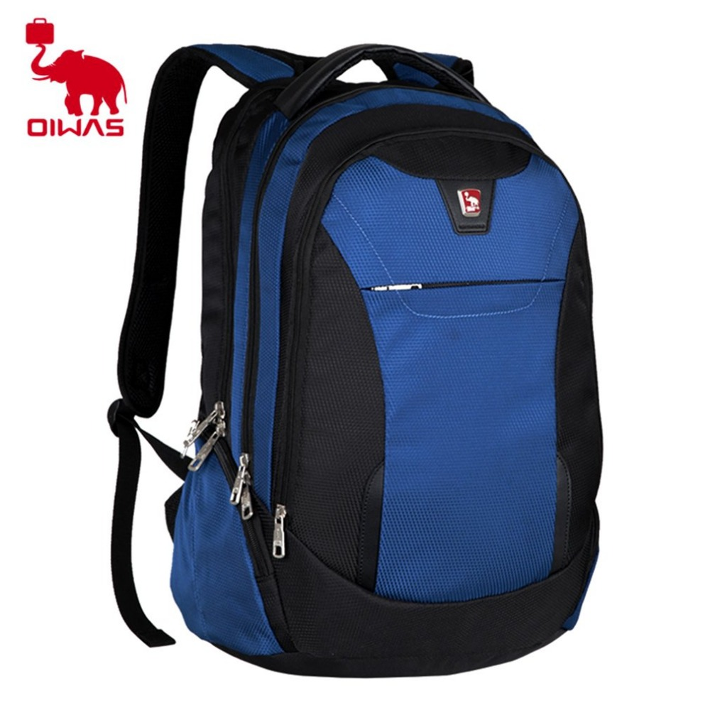 Oiwas Large Capacity Multifunctional Men Women Backpack Waterproof 15 Inch Notebook Laptop Shoulder Bag