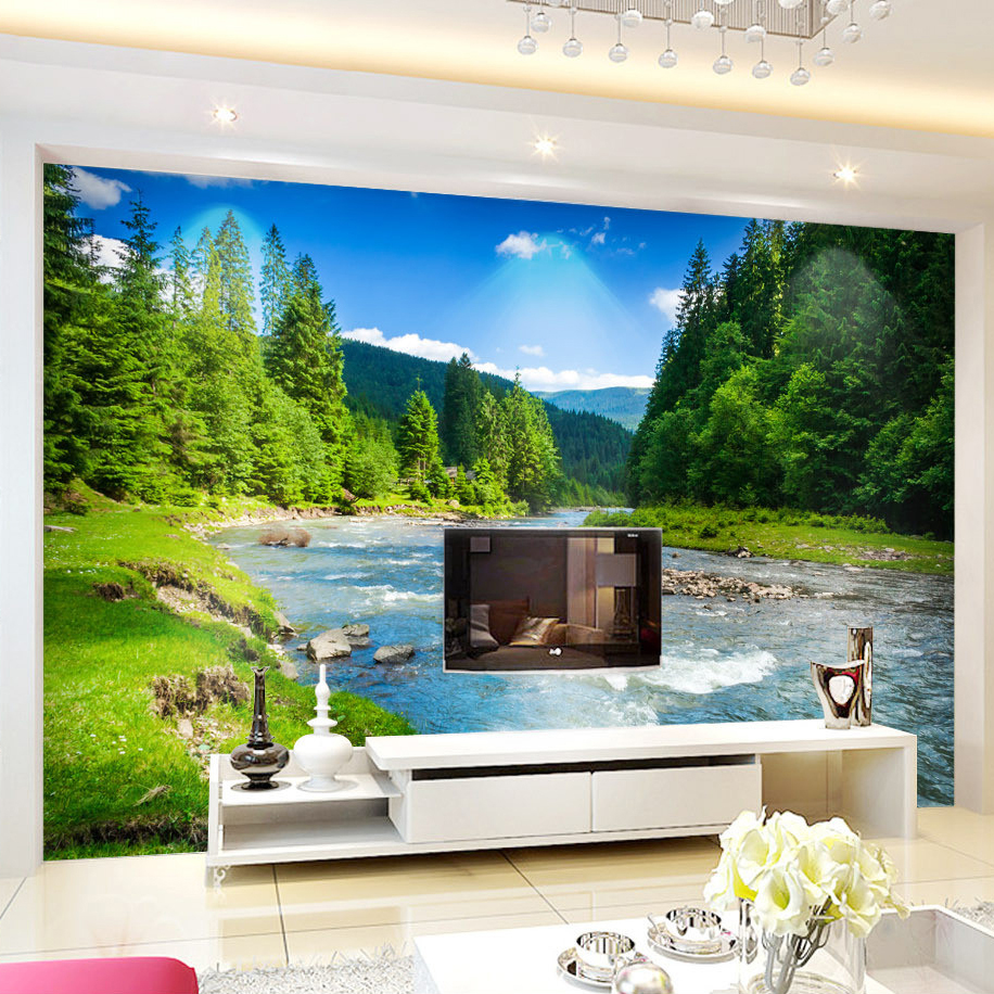 popular wall murals nature buy cheap wall murals nature lots from custom 3d photo wallpaper nature landscape photography background wallpapers for living room bedroom decor wall mural