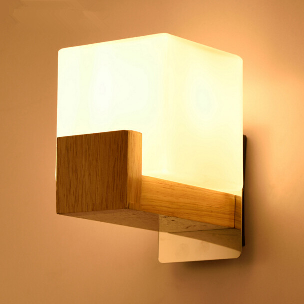 Ground glass bar wood wall light northern europe countryside ground glass bar wood wall light northern europe countryside bedroom restaurant aisle bedside wooden wall lamp free shipping aloadofball Gallery