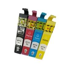vilaxh T0711 Ink cartridge For Epson -T0714 Stylus D78 D92 D120 SX210 SX215 SX100 SX200 DX4000 DX4050 DX4400 DX4450 DX5000