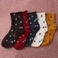 1 Pair Autumn Winter Soft Casual Women Santa Claus Snow White Christmas Dwarfs Cartoon Cotton Curling Breathable Socks