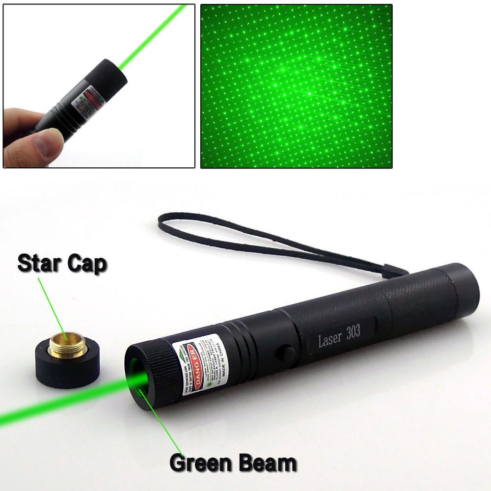 Bright Laser Pointer Pen Beam Military Lazer 303 Powerful Green Red Beam Burning