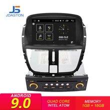 JDASTON Android 9,0 автомобильный dvd-плеер для peugeot 207 2007-2014 1 Din Автомобильный Радио gps навигация WiFi DAB + Canbus видео Bluetooth