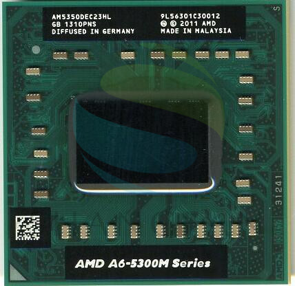 AMD A6 5350 M A6 5300 M AM5350DEC23HL 2.9 GHz Dual Core processeurs Portables Ordinateur Portable CPU Socket FS1